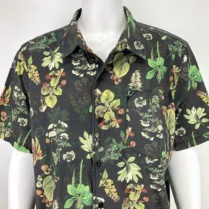 LRG 3XL Botanist Shirt Floral Hawaiian Botanical